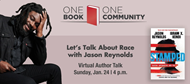 Virtual author talk with Jason Reynolds