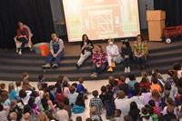 McVay students gather for an all-school assembly.