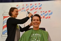 Genoa's Tim Allen Shaves his Head in Support of Student Battling Cancer