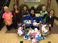 "Alcott's Student Council Collects Socks for the Homeless during ""Socktober"""