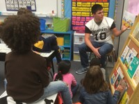 Central Football Players Read to Elementary Students