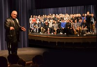 "Notre Dame Legend ""Rudy"" Ruettiger Imparts Words of Wisdom at Westerville Central"