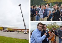 Westerville Central Physics Students Participate in Fifth Annual Egg Drop Contest