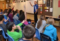 Meteorologist Phil Kelly Talks Weather with Cherrington Fifth Graders