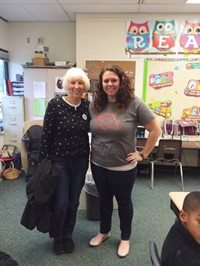 Student Becomes the Teacher in Room 32 at Mark Twain Elementary School