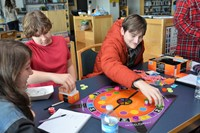 Westerville Central High School students engage in a game of Trivial Pursuit