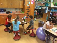 Cherrington Second Graders Have Creative New Seating Choices