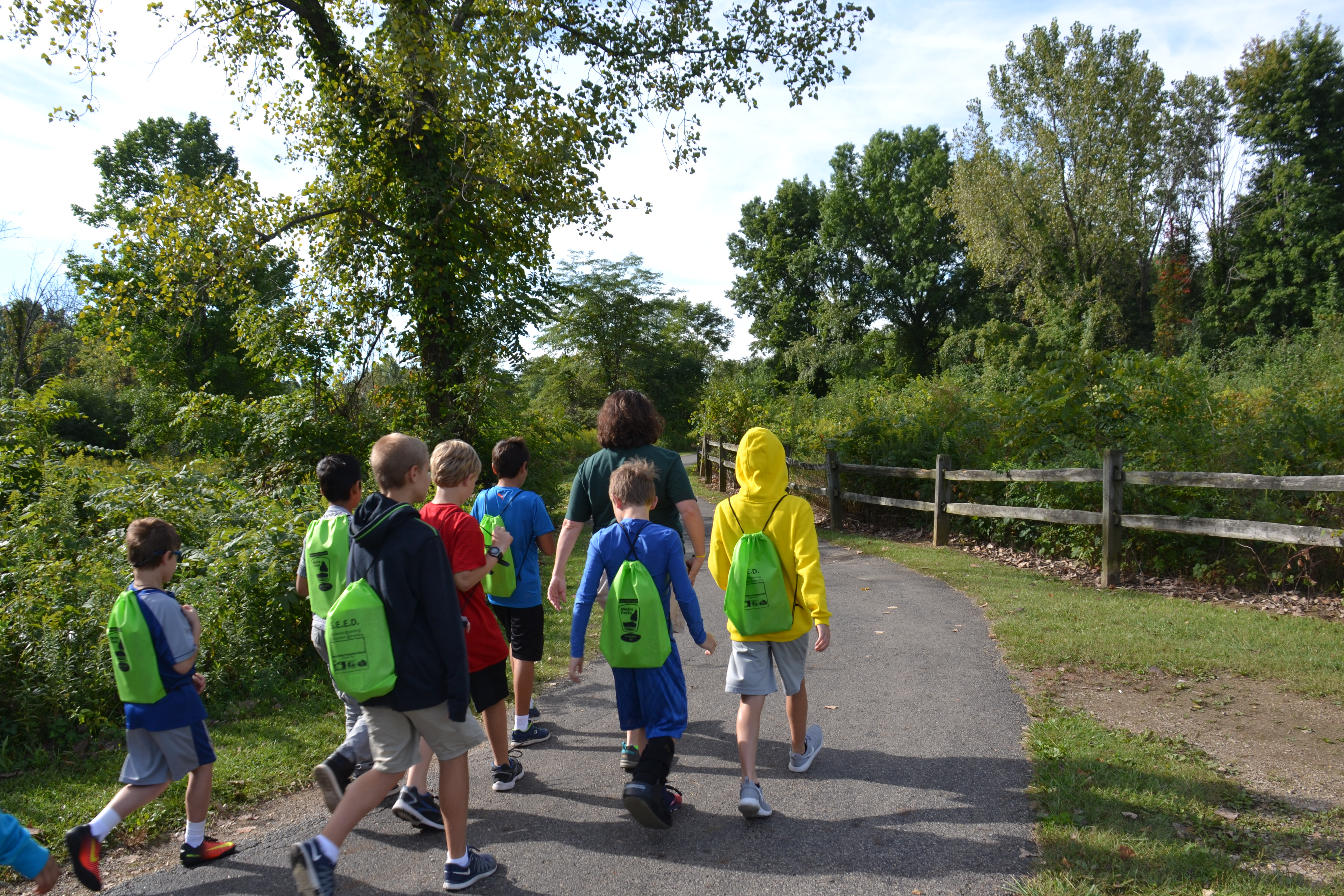 Students hit the trail to explore