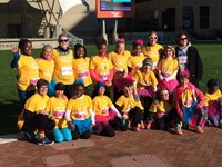 Picture of Huber Ridge Elementary School Girls on the Run group (fifteen girls in grades 3, 4, and 5).