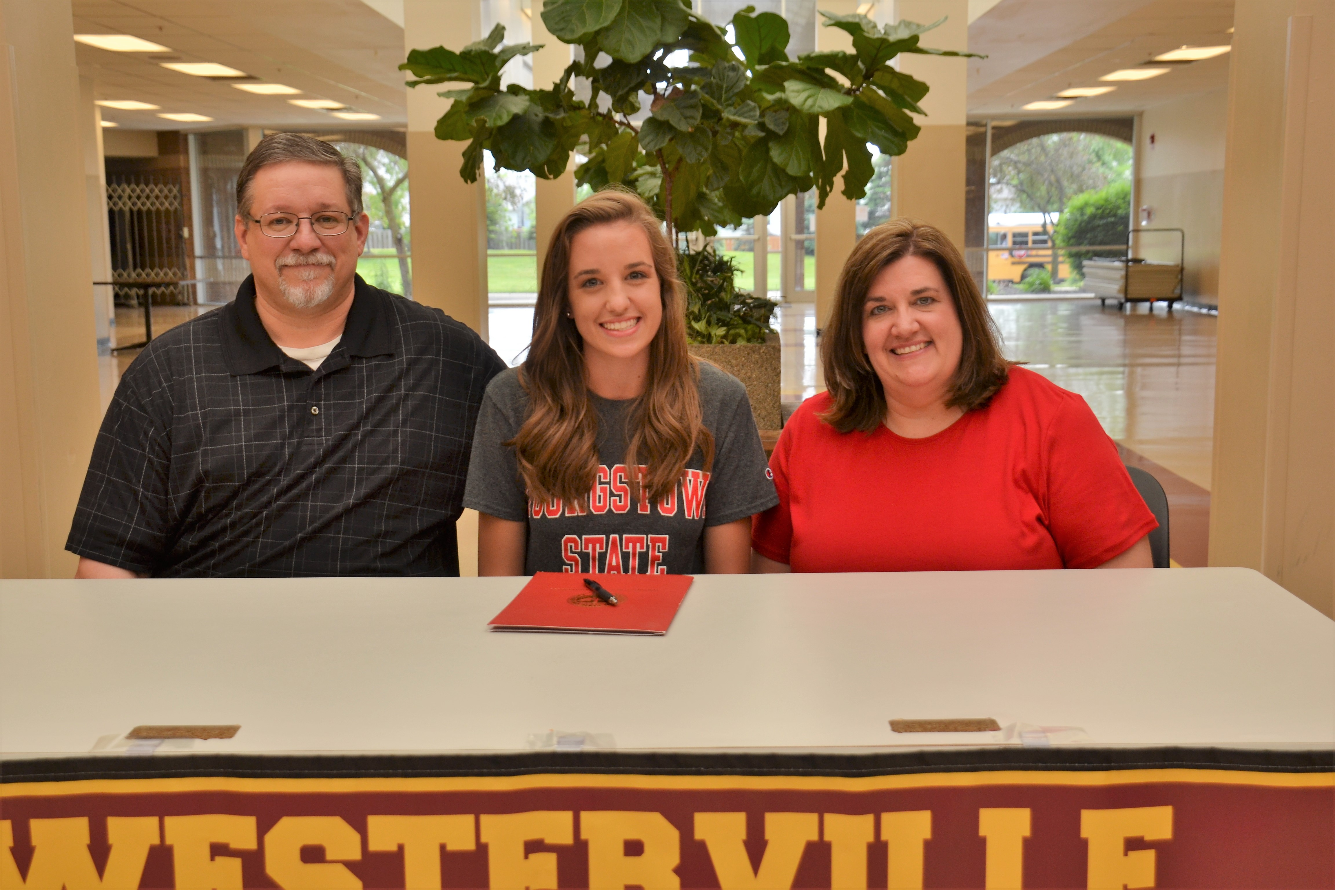 Abbey Chaffin pictured with her parents.
