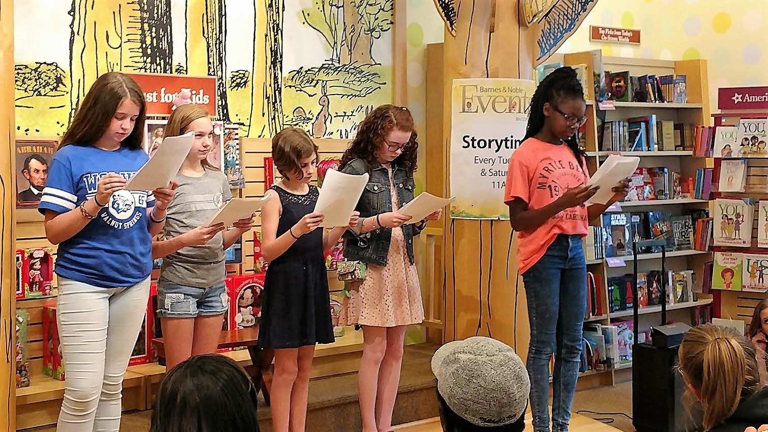 Students perform their Reader's Theater presentation