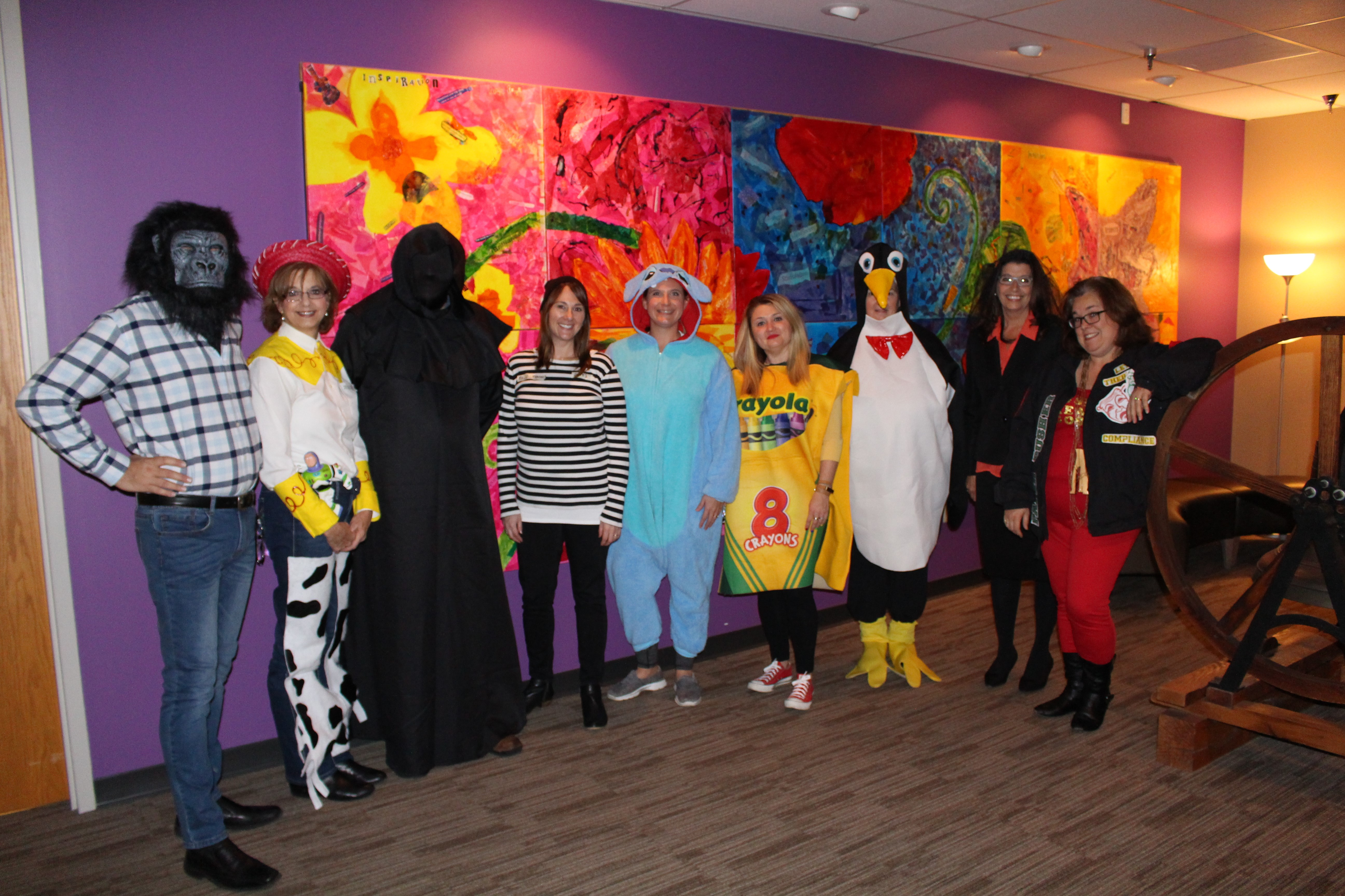 Early Learning Center personnel dressed in costume