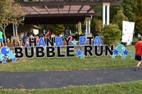 Bubble Run attracted dozens of runners
