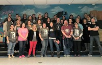 "Hawthorne staff wearing ""Respect"" shirts"