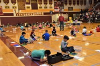 Dozens of students at the annual LEGO competition