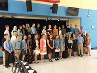 Heritage Middle School inductees