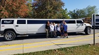 Top fundraisers outside the stretch Hummer Limousine