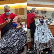 McVay principals get their heads shaved after students raised $4,000 for Pennies for Patients