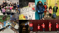 Collage of charitable projects throughout WCSD