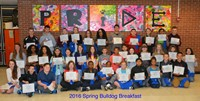 Forty Blendon Students Receive Top Award at Spring Bulldog Breakfast