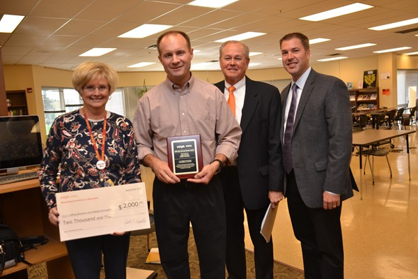 Voya Financial awarded North teachers a $2,000 Unsung Heroes grant.