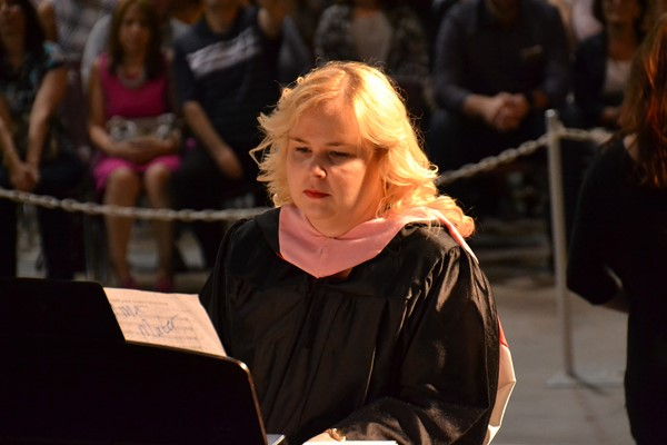 South Commencement 2016 piano playing teacher