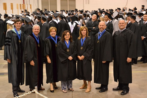 Central Commencement 2016 BOE members with Central Principal and WCSD Superintendent