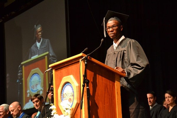 Central Commencement 2016 Validictorian speaker