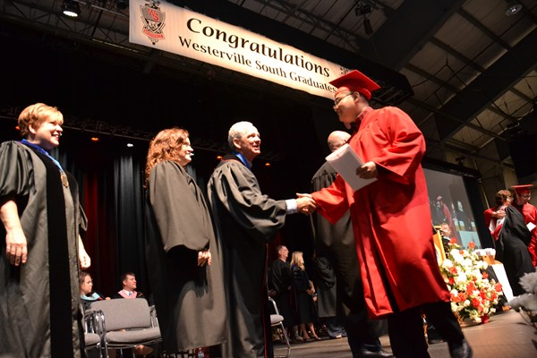 South Commencement 2016 BOE handshake