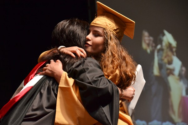 North Commencement 2016 hug