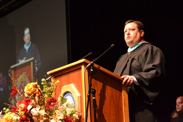 North Commencement 2016 Principal Yancy speaks