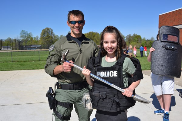 Genoa Township SWAT Officers participated in Genoa Middle School's Career Day.