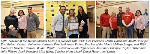 Westerville Education Foundation Teachers of the Month for April 2019